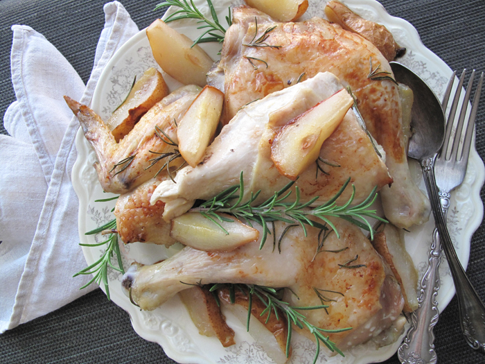 Rosemary and pears chicken