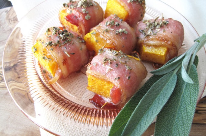 AIP / Bacon Wrapped Butternut Squash Bites