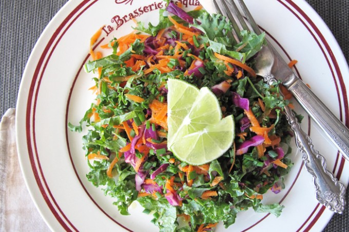 AIP / Colorful Nutrient-dense Fresh Kale Salad