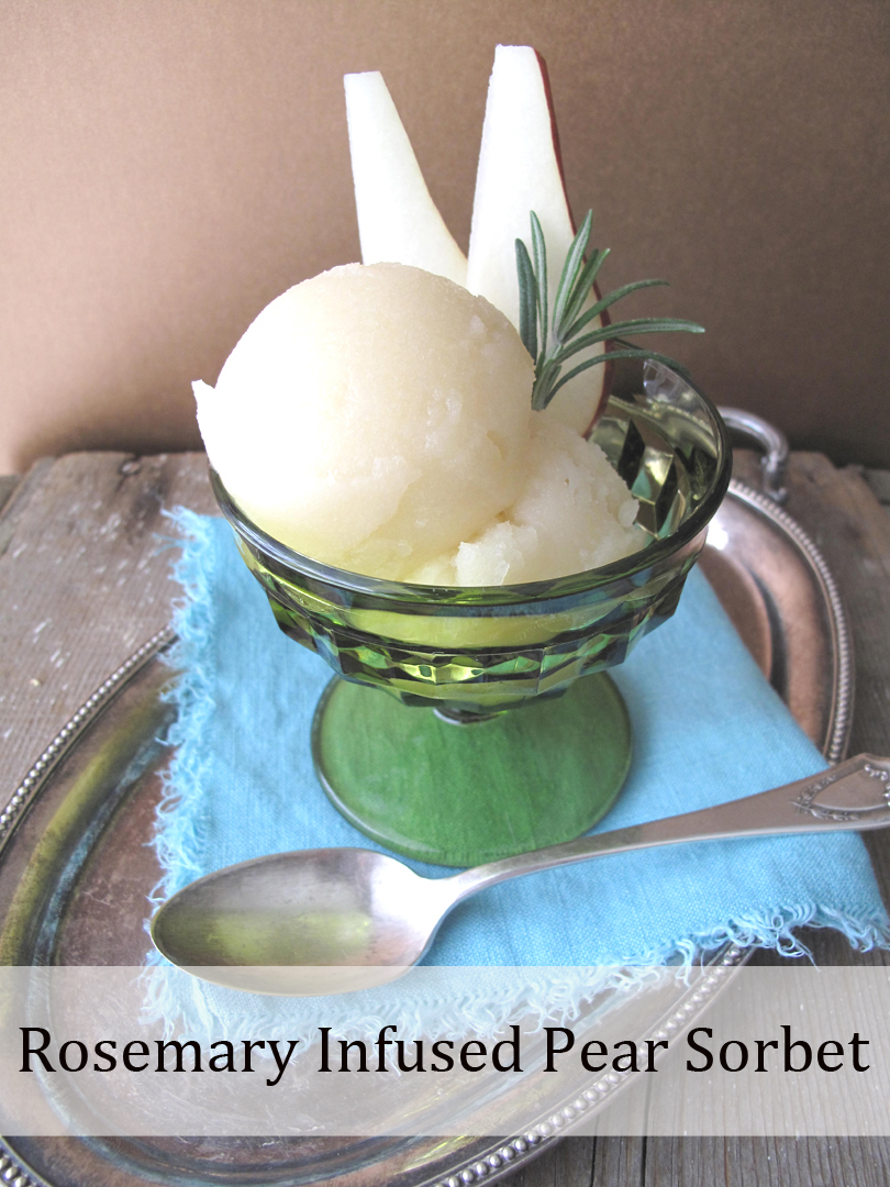 AIP / Rosemary pear sorbet recipe
