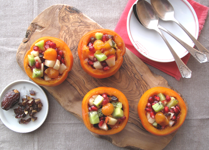 Paleo persimmon fruit salad