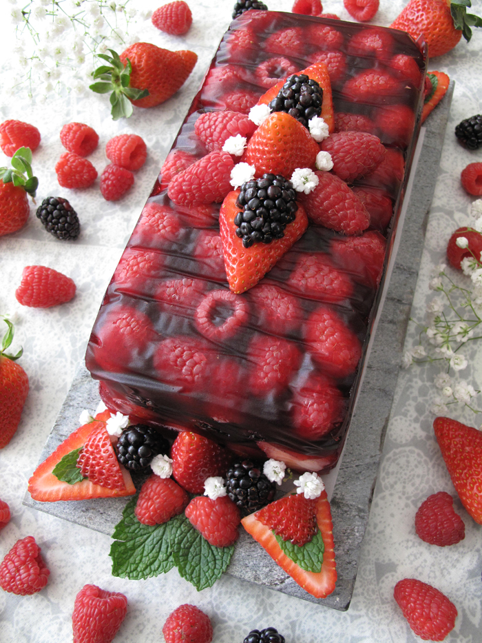 AIP / Paleo fruit terrine with berries - No bake dessert / A Squirrel ...