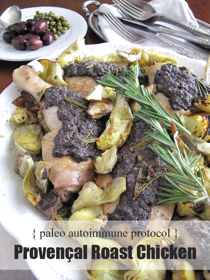 AIP / Provençal roast chicken with olive tapenade - French paleo recipe
