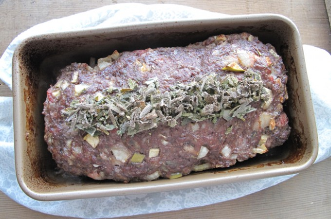 AIP / Paleo Apple and Sage Elk Meatloaf