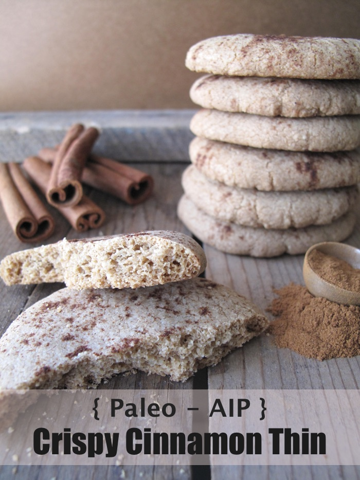 AIP/Paleo Crispy Cinnamon Thin Cookies by A Squirrel in the Kitchen - featured at Natural Family Friday