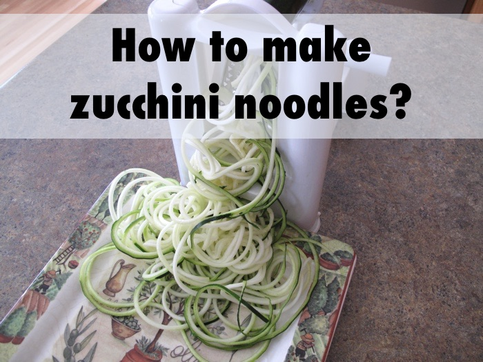 How To Make Zoodles Or Zucchini Noodles With A Vegetable