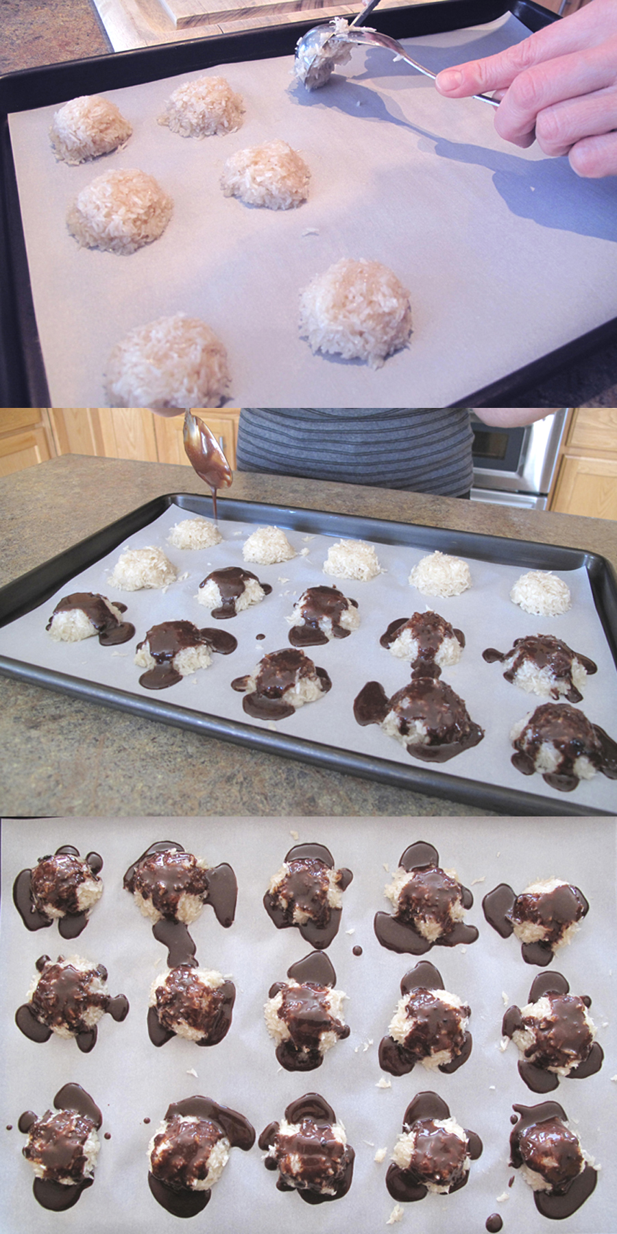 "AIP / Paleo No Bake Coconut Macaroons with ""Chocolate"" Ganache"