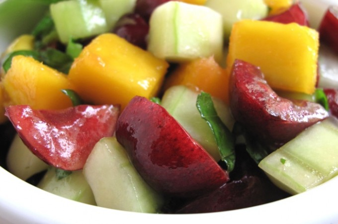 AIP / Paleo Cherry Mango Salsa – Colorful Side Dish for Grilling Season!