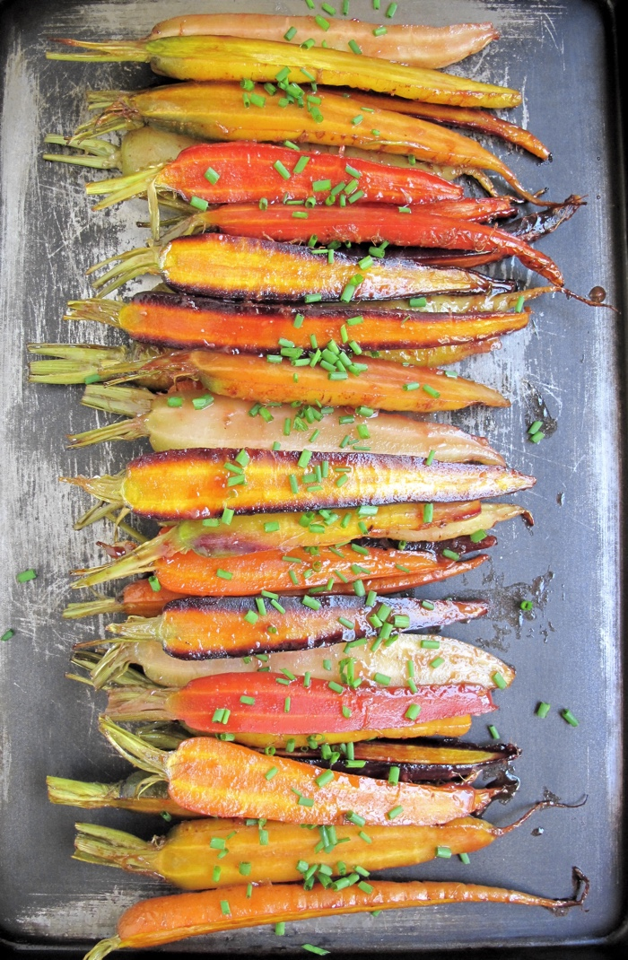 AIP / Paleo Oven Roasted Carrots with Orange Glaze - A Squirrel in the Kitchen