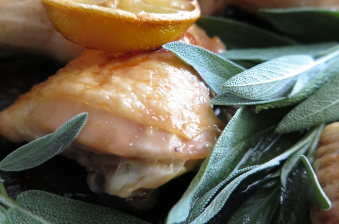 Oven Roasted Chicken with Sage and Lemon (AIP, Paleo, SCD, low-FODMAP)