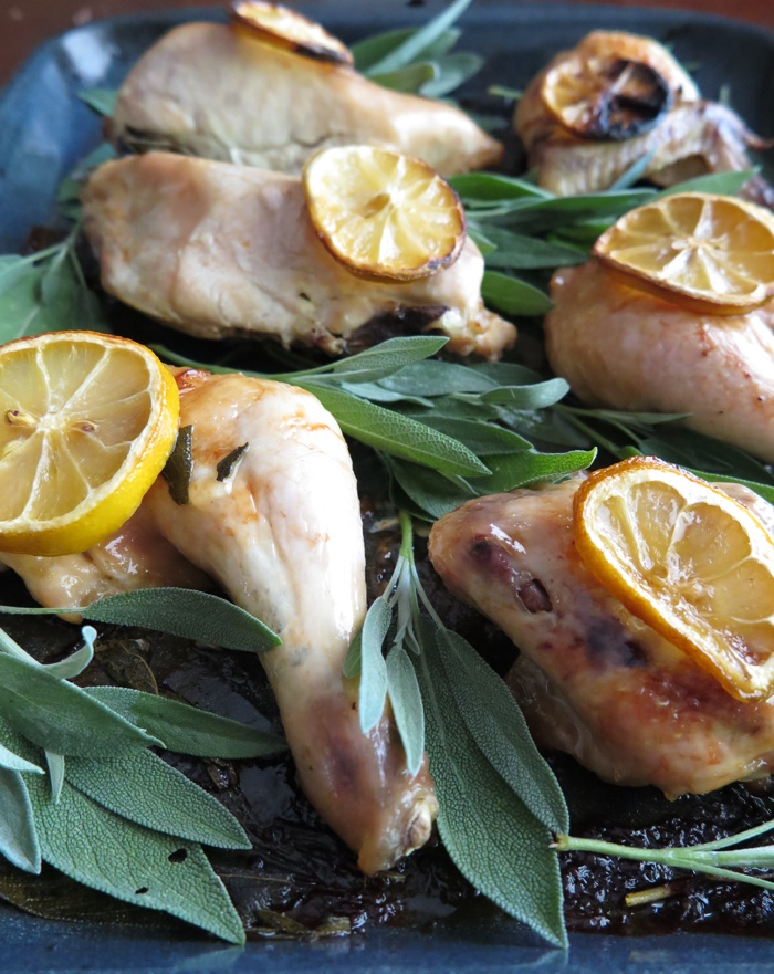 Oven Roasted Chicken with Sage and Lemon (AIP, Paleo) - A Squirrel in the Kitchen
