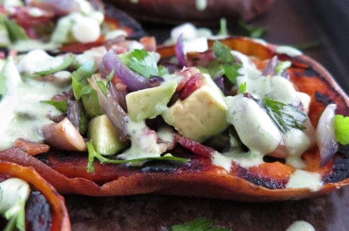 Stuffed Sweet Potato Skins (AIP, Paleo)