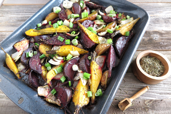 Roasted Beets with Herbes de provence - A Squirrel in the Kitchen