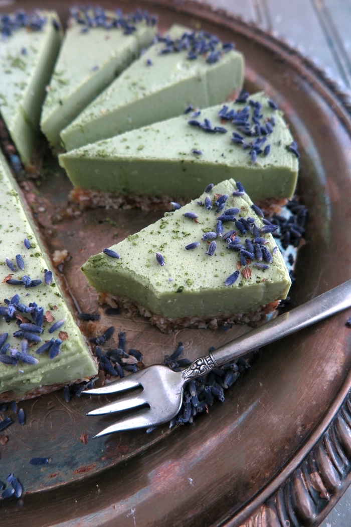 No Bake Matcha Green Tea Cheesecake [Dairy Free-Gluten Free-Paleo-AIP]